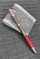 Darrel Ralph Designs (DDR) Flame Anodized Titanium and Red Carbon Fiber Go Pen