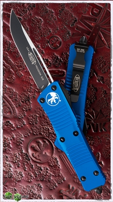 Microtech Troodon S/E 139-1BL Black Blade Blue Handle
