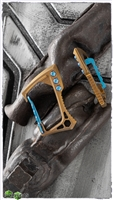 EOS Titanium Carabiner Bronze Finish with Blue Hardware