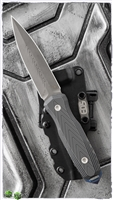 EOS Thresher CPM 3V Sasha Finish Dagger Grey G10 Handles Blue Spike Black Kydex Sheath