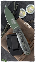 ESEE Knives ESEE-3PMOD-003 Fixed Blade, OD Green/Black G-10, OD Green Coated Blade