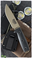 ESEE Knives ESEE-4PDE-001 Fixed Blade, Black 3D G-10, Dark Earth Finish