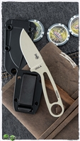 ESEE Knives Izula Desert Tan, Survival Neck Knife w/ Sheath