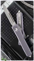 Microtech Ultratech S/E 121-11PU Stonewash Serrated Purple Handle