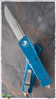 Microtech Troodon S/E 139-10BL Stonewash Blade Blue Handle