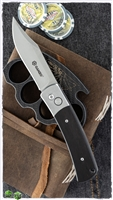 Ganzo Auto Clip Point Bowie Satin Blade