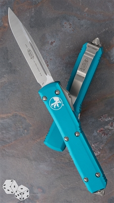 Microtech Ultratech S/E 121-4TQ Satin Blade Turquoise Handle