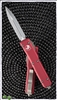 Microtech Ultratech D/E 122-4RD Satin Blade Red Handle