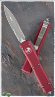 Microtech Ultratech D/E 122-5RD Satin Serrated Blade Red Handle