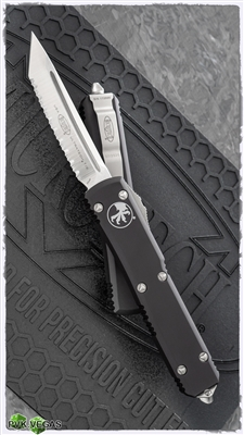 Microtech Ultratech T/E 123-6 Satin Full Serrated