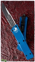Microtech Combat Troodon S/E 143-2BL Black Serrated Blade Blue Handle