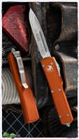 Microtech UTX-70 S/E 148-4OR Satin Blade Orange Handle