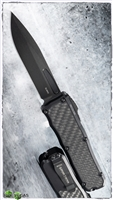 Guardian Tactical RECON-035 S/E OTF Black Blade And Hardware ELMAX Tactical Carbon Fiber Inlay