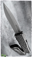 Guardian Tactical RECON-035 S/E OTF Stonewash Blade And Hardware ELMAX Carbon Fiber Inlay