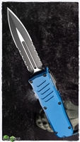 Guardian Tactical RECON-035 D/E OTF Black Two Tone S Blade & Blue Handle