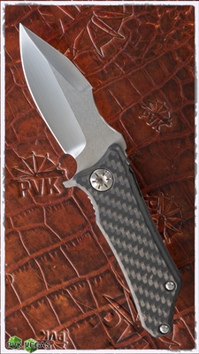 Guardian Tactical Exilis, Carbon Fiber Scales, 154CM Hand Ground by Marfione Customs