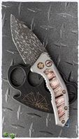 Heretic Knives Medusa Auto Mammoth Inlay VF Damascus Entropic Ti Clip SN002