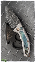 Heretic Knives Medusa Auto Mammoth Inlay VF Damascus Entropic Ti Clip SN010
