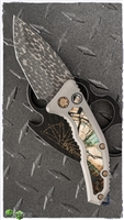 Heretic Knives Medusa Auto Mammoth Inlay VF Damascus Entropic Ti Clip SN011
