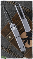 Microtech Ultratech D/E 122-1GY Black Blade Gray Handle