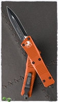 Microtech Troodon D/E 138-1OR Black Blade Orange Handle