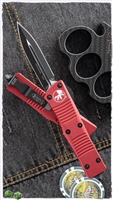 Microtech Troodon D/E 138-1RD Black Blade Red Handle