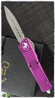 Microtech Combat Troodon D/E 142-12APVI Apocalyptic Full Serrated Blade Violet Handle