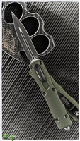 Microtech Dirac 225-1OD Black Blade OD Green Body
