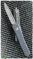 Microtech UTX-70 S/E 148-10GY Stonewash Finish Blade Gray Handle