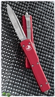Microtech UTX-70 S/E 148-10RD Stonewash Finish Blade Red Handle