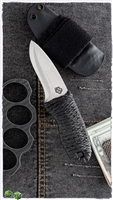John Gray Single Edge Belt Knife A2 Blade Cord Wrapped Handle
