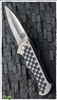 John Gray Blood Shark Custom Folder Tri Finish Blade Dimple Handle
