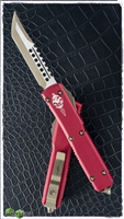 Microtech Ultratech Hellhound 119-13RD Bronze Hardware & Blade Red Handle