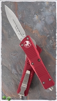 Microtech Troodon D/E 138-10RD Stonewash Blade Red Handle