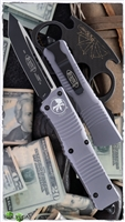 Microtech Combat Troodon T/E 144-1GY Black Blade Gray Handle