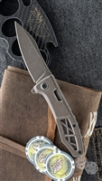 "Kershaw Boilermaker Assisted Opening Frame Lock, Brown Finish, 3.3"" Brown Finished Blade"