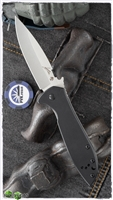 "Kershaw Emerson CQC-4KXL D2 Frame Lock Knife, Black G10, 3.87"" Stonewashed"