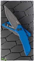 Kershaw Launch 1 Automatic Knife Blue Aluminum, Black Washed CPM-154