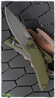 Kershaw Launch 1 Automatic Knife Olive Green Aluminum, Black Washed CPM-154