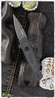 Kershaw Launch 12CA Mini Stiletto Auto, Black Aluminum W/Carbon Fiber, Blackwashed CPM-154