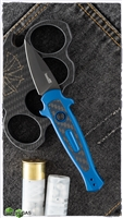 Kershaw Launch 12CA Mini Stiletto Auto, Blue Aluminum W/Carbon Fiber, Black CPM-154