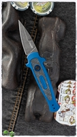 Kershaw Launch 12CA Mini Stiletto Auto, Blue Aluminum W/Carbon Fiber, Blackwashed CPM-154