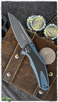 Kershaw Natrix Sub-Frame Lock Flipper, Blue G-10/Carbon Fiber 7007CF
