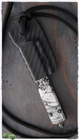 Microtech Kydex Neck Sheath for Contour Body UTX70 Black Carbon Fiber