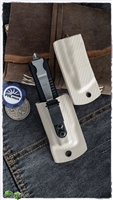 Microtech Blonde Carbon Fiber IWB Sheath For Combat Troodon Blonde Carbon Fiber