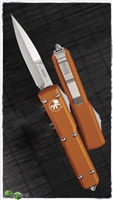 Microtech Ultratech Bayonet 120-10OR Stonewash Blade Orange Handle
