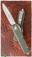 Microtech UTX-85 D/A OTF 231-4OD Green Handle Satin Finish Blade