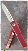 Microtech UTX-85 D/A OTF Automatic Knife S/E Satin Finish Red Chasis