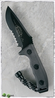 Microtech Currahee Fixed Blade 102-2 Black Serrated Blade Black Handle