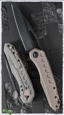 Microtech Sigil MK6 196-1DLCTA DLC Black Blade Tan Handle